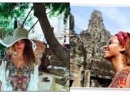 Os acessórios de cabeça boho chic de Beyoncé na Ásia
